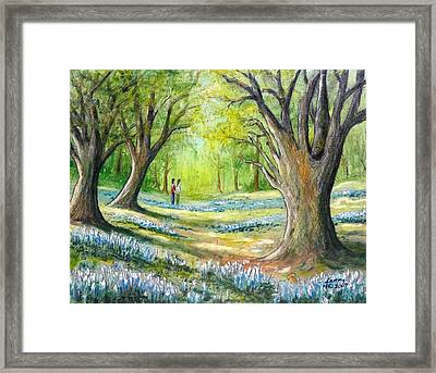 Blue Flowers Framed Print