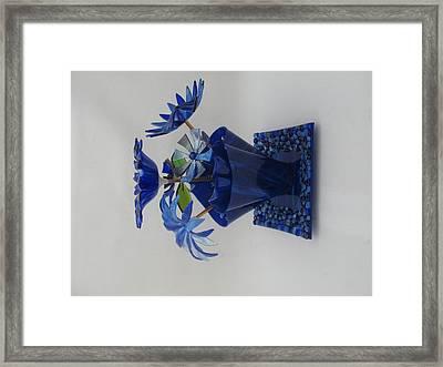 Blue Flowers Framed Print by Steven Schramek
