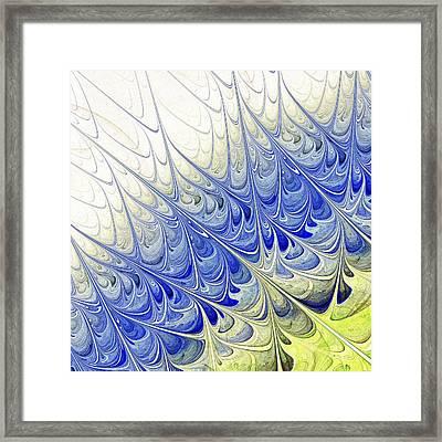 Blue Folium Framed Print