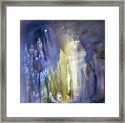 Blue Forest  Framed Print by Tanya Byrd