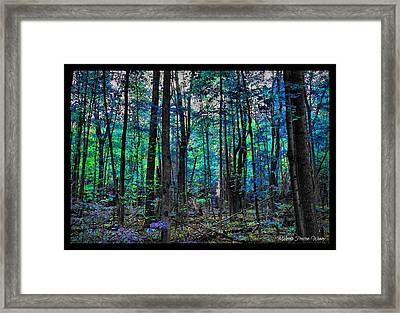 Framed Print featuring the photograph Blue Forrest by Michaela Preston