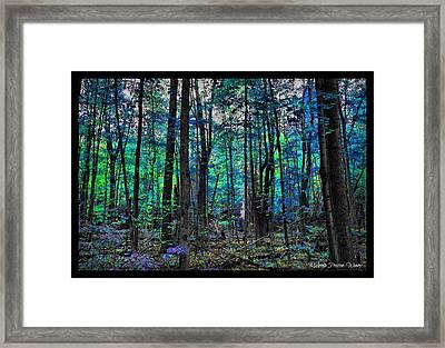 Blue Forrest Framed Print