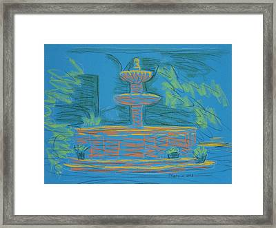 Blue Fountain Framed Print by Marcia Meade