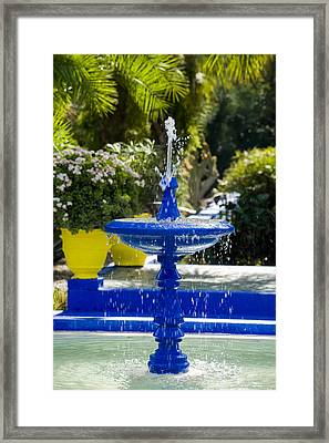 Blue Fountain Framed Print by Mick House