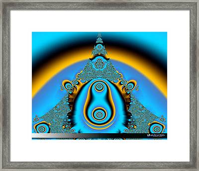 Blue Fractal 01 Framed Print