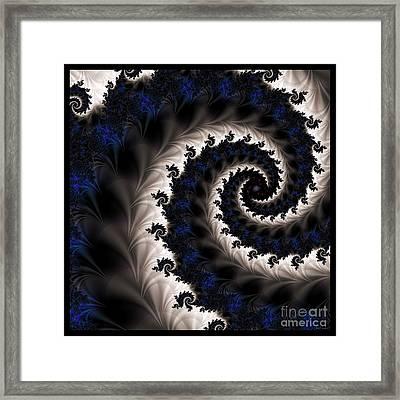 Blue Fractal Path Framed Print by Elizabeth McTaggart