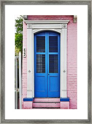 Blue Front Door New Orleans Framed Print by Christine Till
