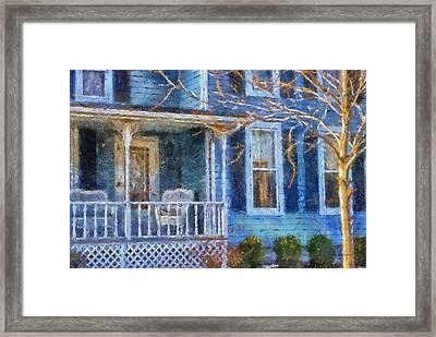 Blue Front Porch Photo Art 01 Framed Print by Thomas Woolworth