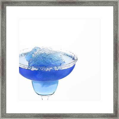 Blue Frozen Iceberg Margarita Framed Print by Erin Cadigan
