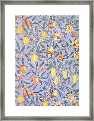 Blue Fruit Framed Print by William Morris