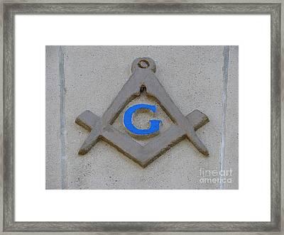 Blue G Framed Print