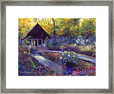 Blue Garden Impression Framed Print by David Lloyd Glover