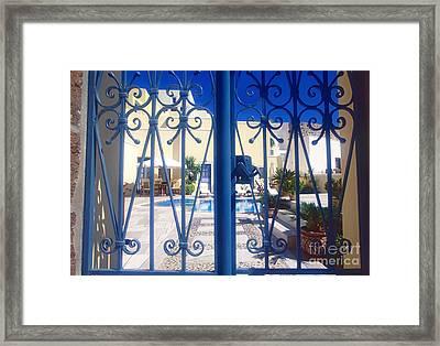 Blue Gate Framed Print