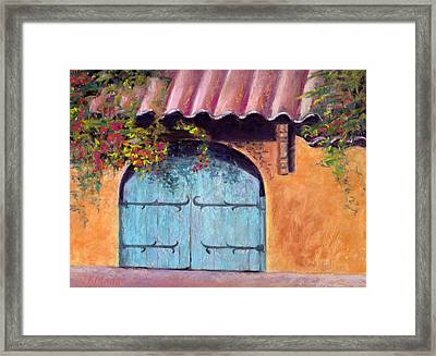Blue Gate Framed Print by Julie Maas