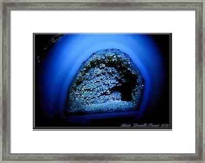 Blue Gem Stone Quartz Framed Print by Danielle  Parent