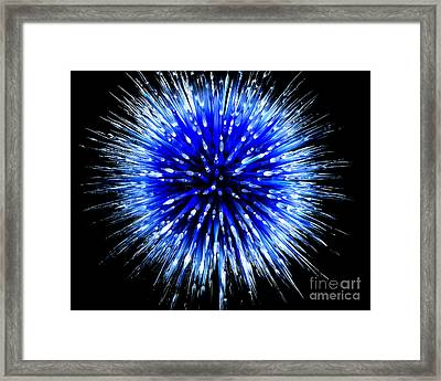 Blue Glass Art Framed Print by Eyzen M Kim