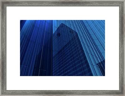 Blue Glass Building Framed Print by Mmdi