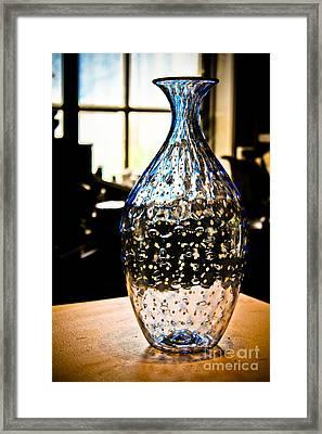 Blue Glass Vase Framed Print