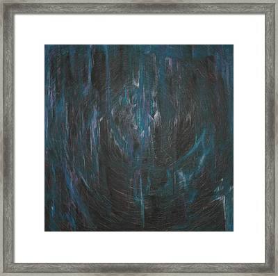 Blue Glass Framed Print by Wayne Carlisi