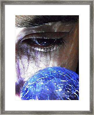 Blue Glass World Framed Print