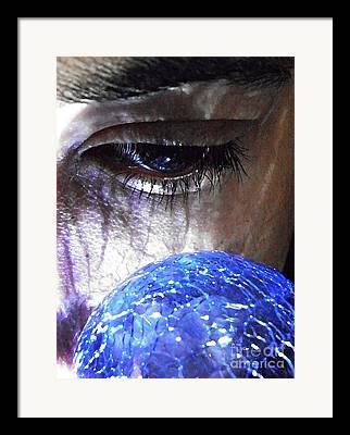 Blue Glass World Framed Prints
