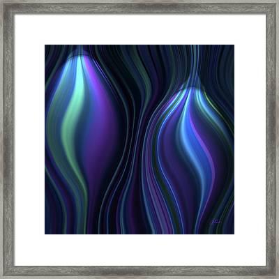Blue Globes Framed Print by Lori Grimmett