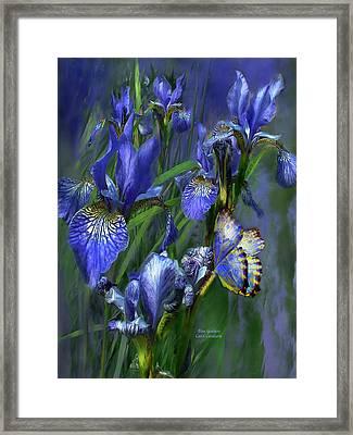 Blue Goddess Framed Print by Carol Cavalaris