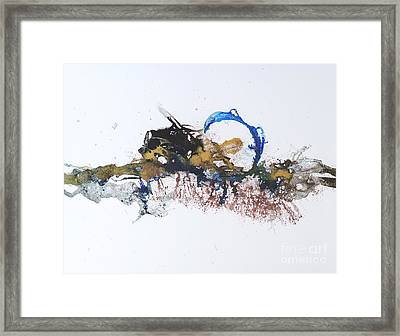 Blue-gold 01 Framed Print by David W Coffin