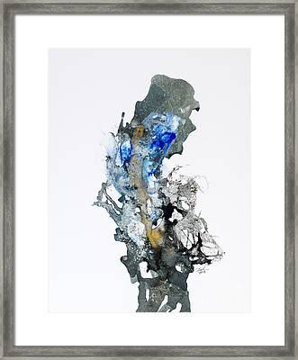 Blue-gold 04 Framed Print by David W Coffin