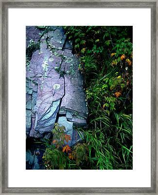 Blue Granite Framed Print by Ric Soulen