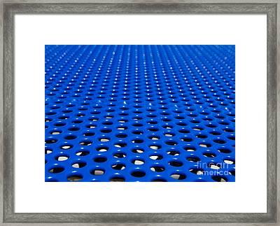 Blue Grate Framed Print
