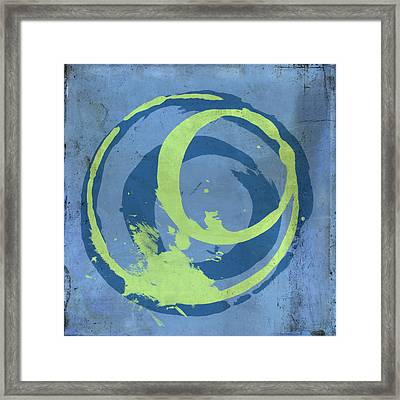 Blue Green 7 Framed Print