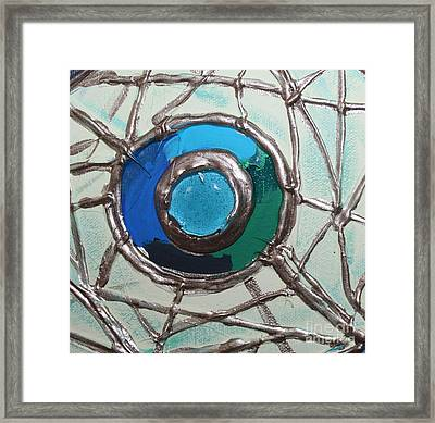 Blue Green And Gold Circle Framed Print