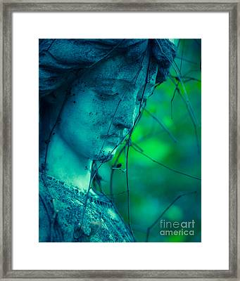 Blue Green Angel Framed Print by Sonja Quintero