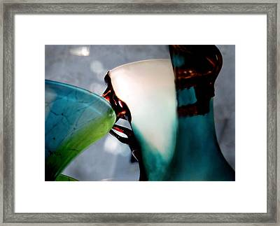 Blue Green Art Glass 2 Framed Print