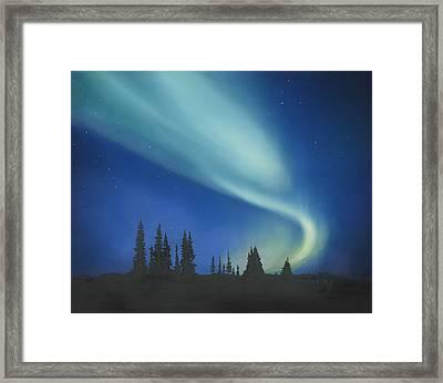 Blue Green Aurora Borealis Framed Print