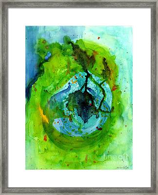 Blue Green Ether Framed Print by Mukta Gupta