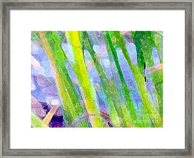 Blue Green Fantasy Framed Print by Sylvie Moncion