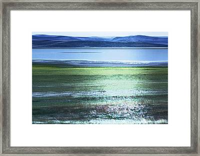 Blue Green Landscape Framed Print