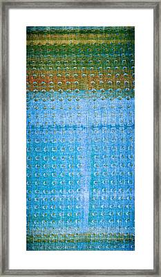 Blue Green Tank Framed Print by Anthony George