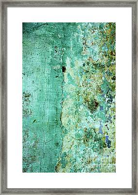 Blue Green Wall Framed Print