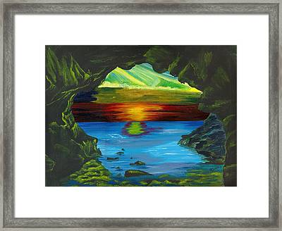 Blue Grotto Framed Print by Beverly Marshall