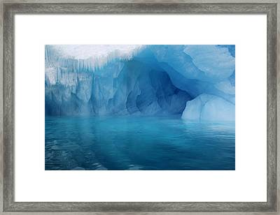 Blue Grotto Framed Print