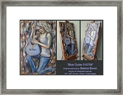 Blue Guitar 010709 Comp Framed Print by Selena Boron