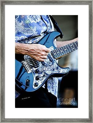 Blue Guitar Framed Print