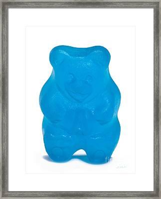 Blue Gummy Bear Framed Print