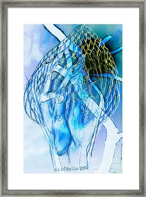 Blue Hands Framed Print