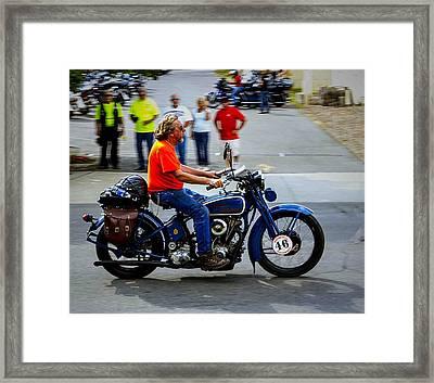 Blue Harley 46 Framed Print