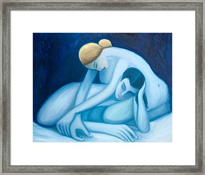 Blue Harmony Framed Print by Stephen Degan