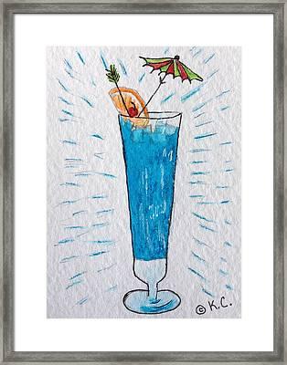 Blue Hawaiian Cocktail Framed Print